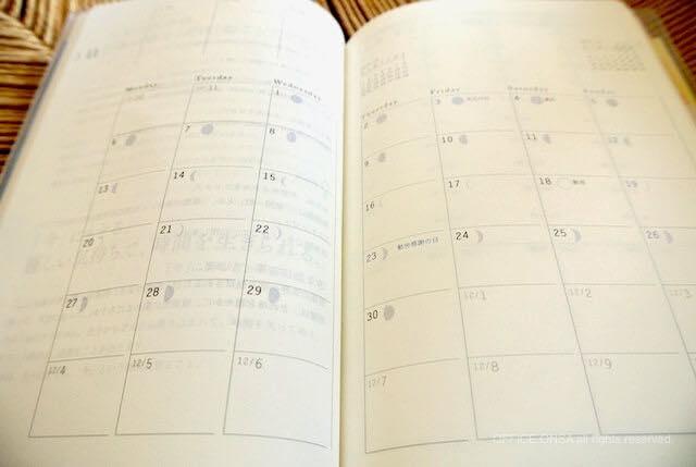 『夢をかなえる人の手帳2017』(blue)月リスト・画像